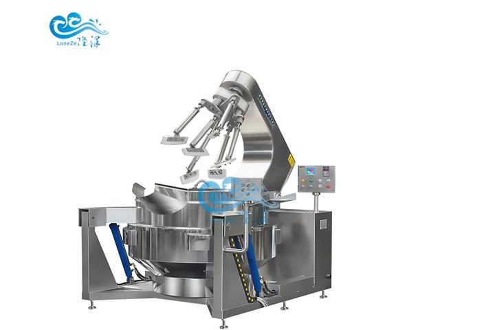 厂家供应不锈钢食堂配套设备 全自动炒菜机器 中央厨房大型炒锅